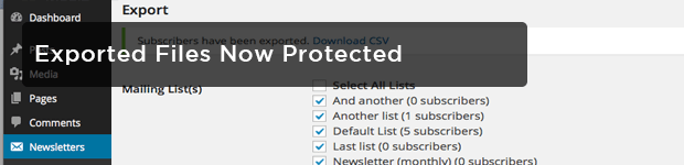 Exported-files-protected