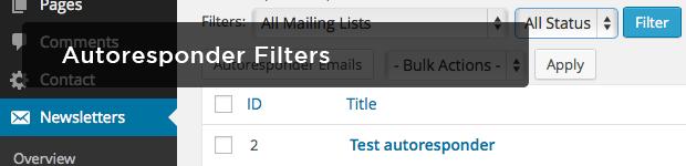 Autoresponder-Filters