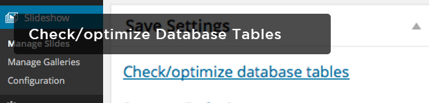 Checkoptimize-Database-Tables