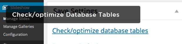 Checkoptimize-Database-Tables