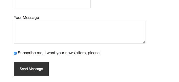 Single Subscribe Checkbox