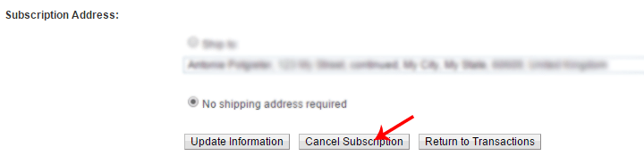 Cancel-subscription