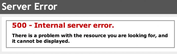 Internal Server Error Page