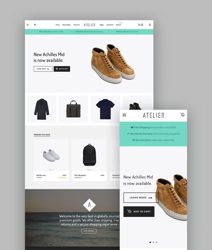Atelier WordPress Portfolio Theme