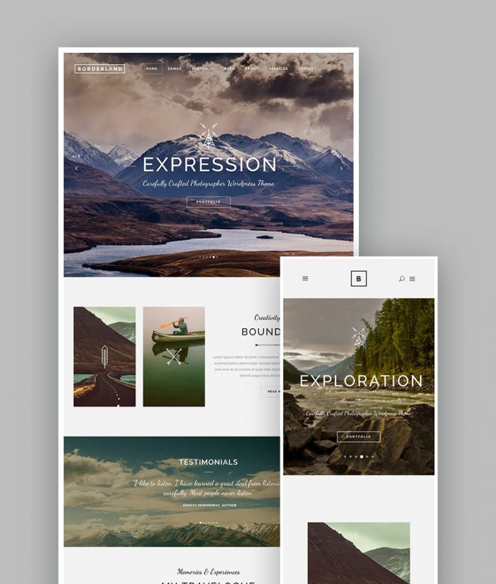 Borderland WordPress Portfolio Theme