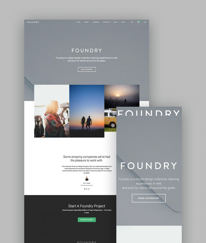 Foundry WordPress Portfolio Theme