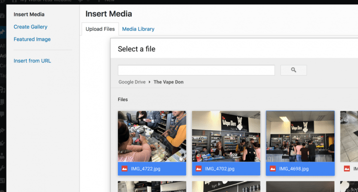 Import Google Drive Files into WordPress