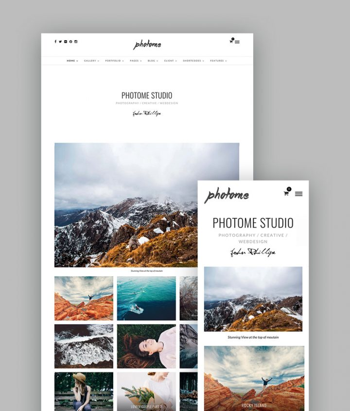 Photome WordPress Portfolio Theme