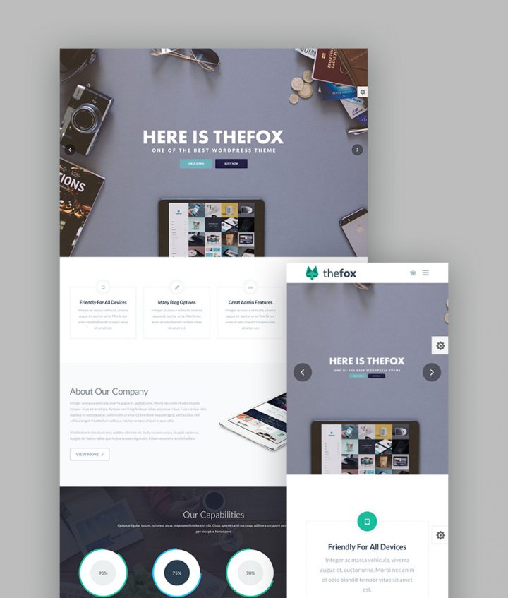 TheFox WordPress Portfolio Theme