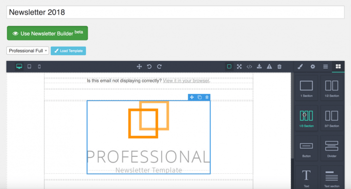 Drag and Drop Newsletter Builder