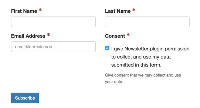 WordPress Newsletter plugin GDPR compliance