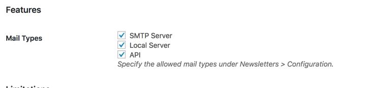 Newsletter Mail Types