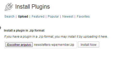 Upload Newsletters WP eMember Extension Plugin