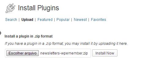 Upload Newsletters WP eMember Extension Plugin