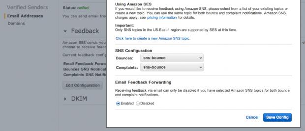 Amazon SES Feedback