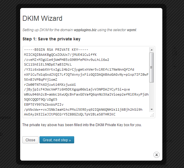 Newsletters: DKM Wizard Step 1