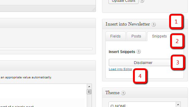 NewslettersTinyMCE Email Snippets