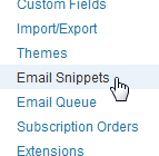 Newsletters: Email Snippets