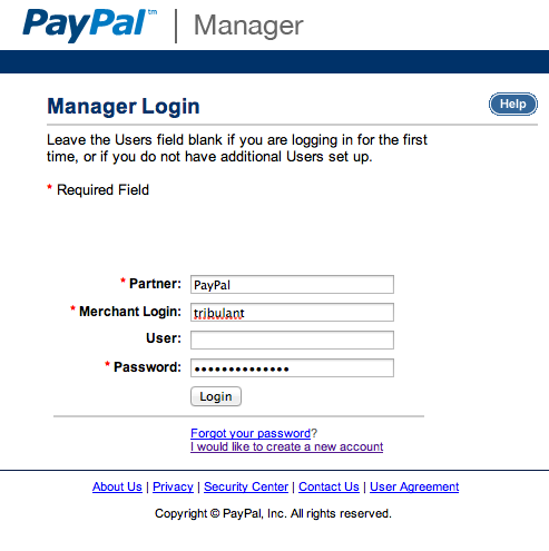PayPal Manager Login