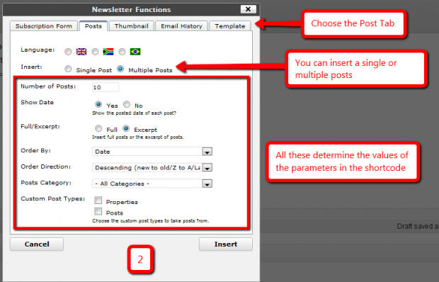 Insert One or Multiple Post(s) in a Newsletter