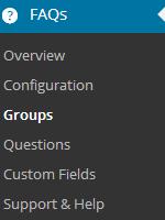 menu item groups