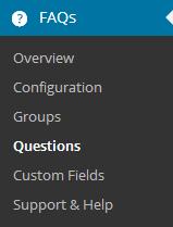 menu item questions