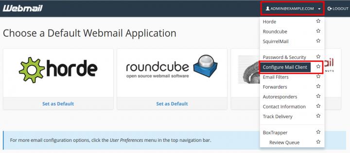 Configure Mail Client