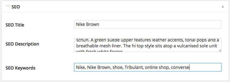 how to add seo keywords in wordpress website