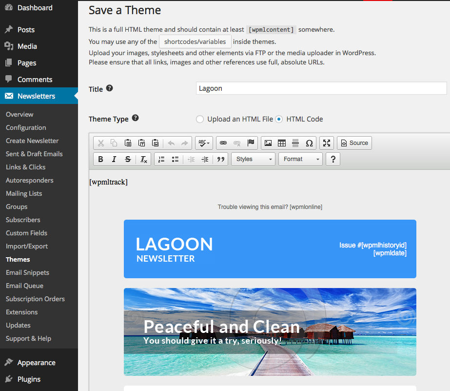 newsletter themes