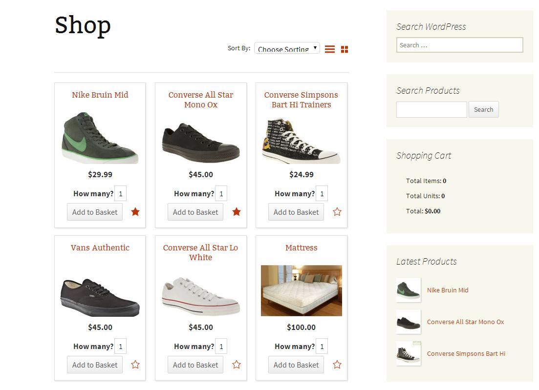 WordPress Shopping Cart Plugin
