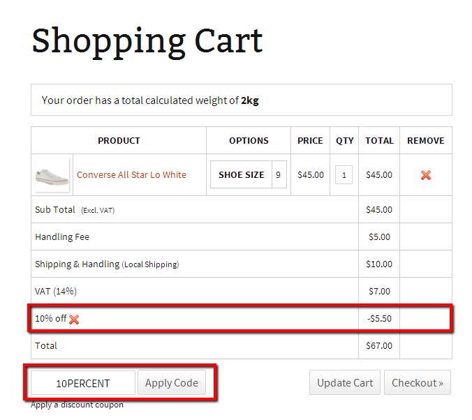 Add coupon codes paypal shopping cart